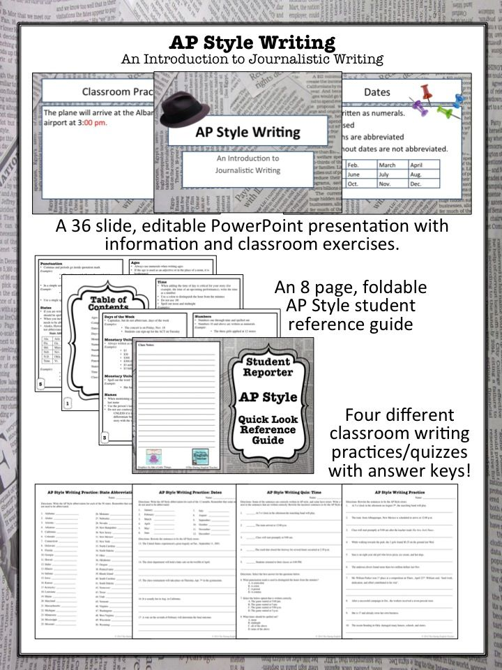 ap style of writing Note: this handout is intended as a supplement to the most recent edition of the ap stylebook it is not meant to replace it.