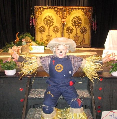 Our upcycled scarecrow!