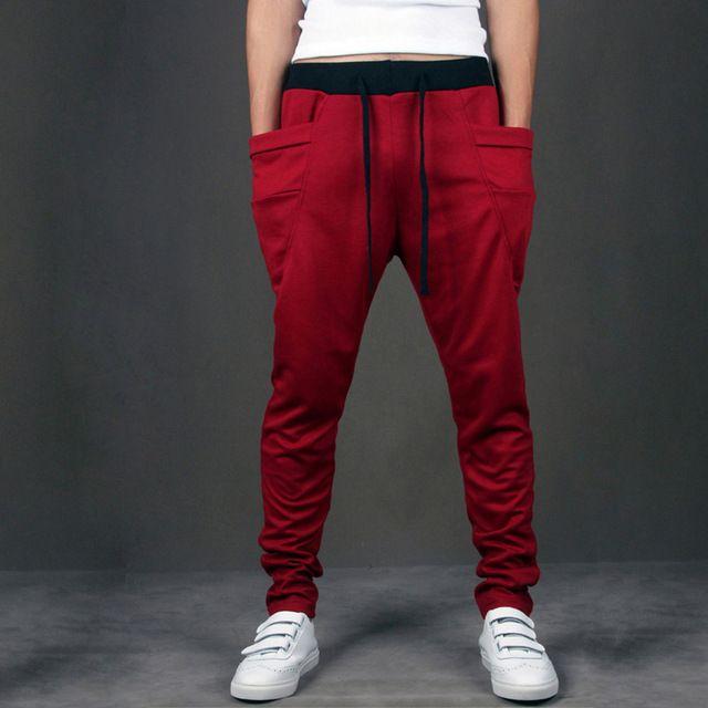 Гарем Брюки Мужчины 2016 Уникальные Карманные Мужские Бегунов Грузовые Мужчины Panats Тренировочные брюки моды Случайные Штаны Мужчины Pantalones Hombre горячая продажа