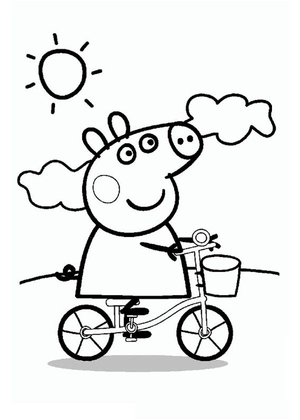 31 Best Peppa Pig Coloring Pages Images On Pinterest