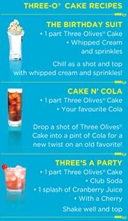 three olives cake vodka recipes