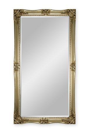 Decorative Champagne Floor Mirror