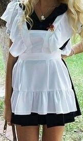 Школьное платье с фартуком для выпускного