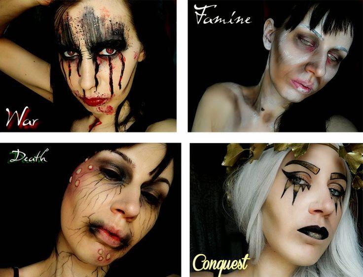 Four horsemen makeup serie #makeup #apocalypse #fourhorsemen #bible #death #famine #war #conquest