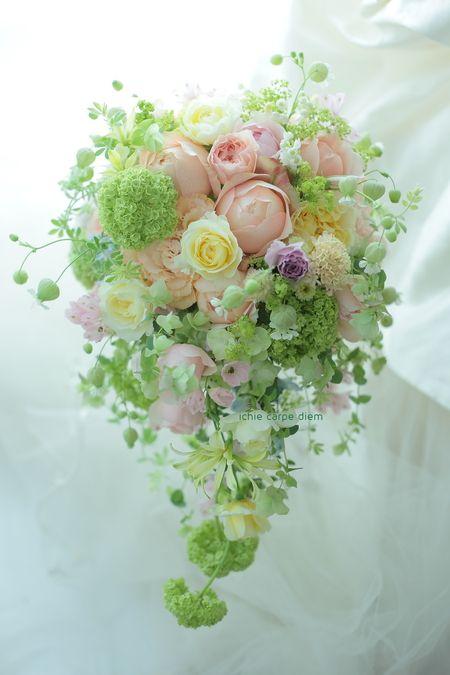 ブーケ ヨコハマグランドインターコンチネンタルさまへ 花嫁様と、お母様と : 一会 ウエディングの花