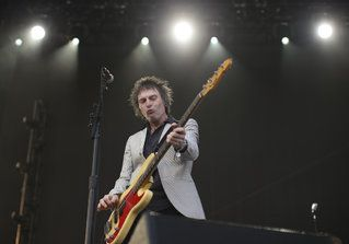 Bassist Tommy Stinson during The Replacements set at the Forecastle Festival in July..