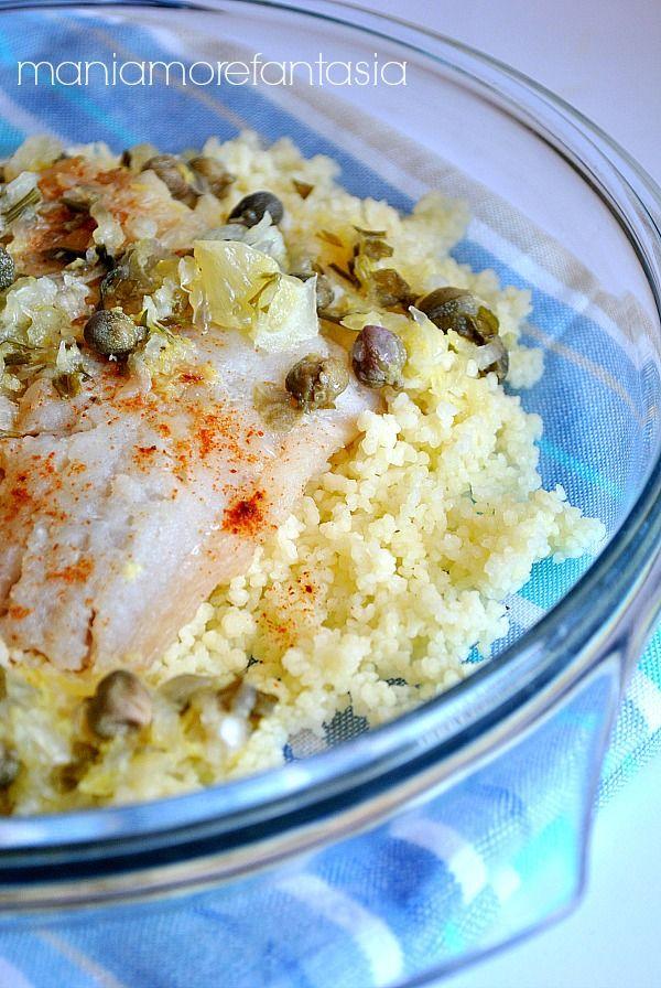 filetti di merluzzo con salsa fredda al limone e couscous