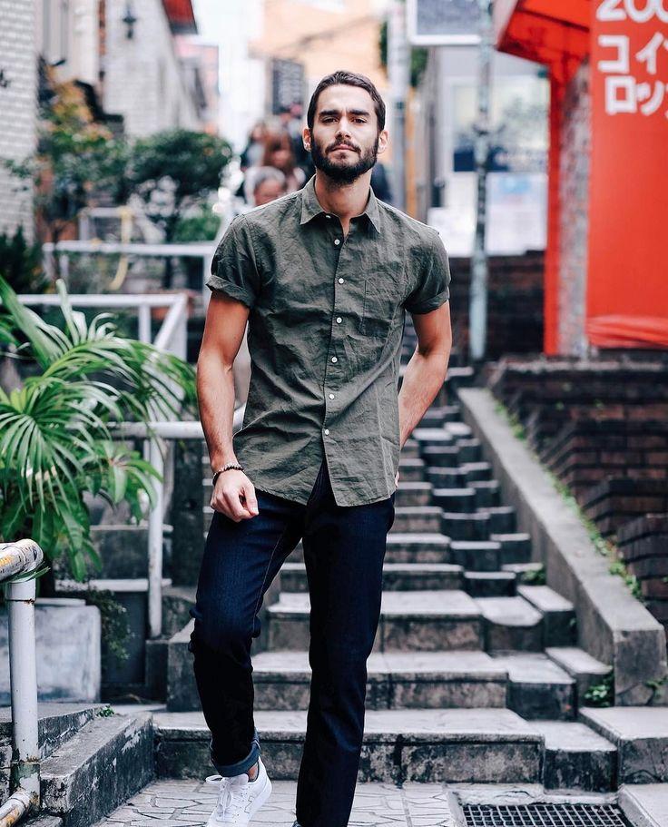"Inspiration for hero Cristos in STRANDED WITH HER GREEK TYCOON7,955 Me gusta, 45 comentarios - Nicolas Simoes   Travel&Style (@nicolassimoes) en Instagram: ""Always casual and comfortable denim on Saturday w/ @uniqlo_fr  #uniqlo #stylebysimoes #lifewear …"""