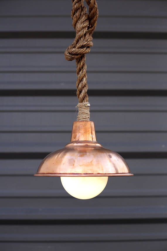 Copper Pendant Light Barn Lighting Manila Rope Lights