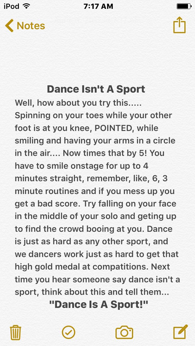 So how about dis? Dance is just as much of a sport as hockey is!