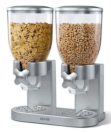 Loving this Silver Dry Foods Dual Dispenser on #zulily! #zulilyfinds