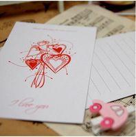 Бесплатная доставка ( 2 шт. / комплект ) романтическая любовь серии - день святого валентина на тему любви комплект открыток / открытки / подарок и рождественская открытка