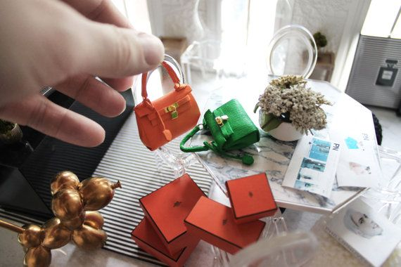 Miniature Hermes kelly Bag by PhillipNuveen