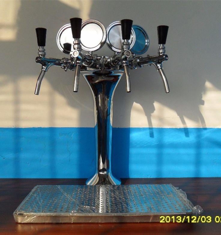 4 linhas de chope torre com torneiras de cerveja e bandeja de gotejamento em   de   no AliExpress.com | Alibaba Group