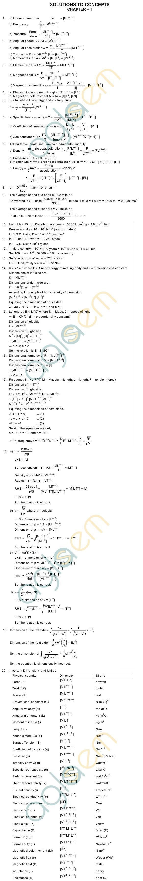 HC Verma Solutions: Chapter 1 – Introduction to Physics