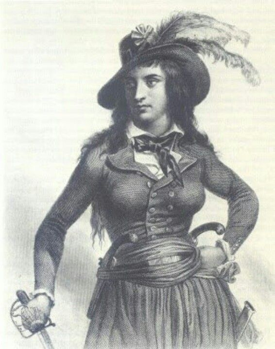 This is a female pirate named Theroigne De Mericourt.