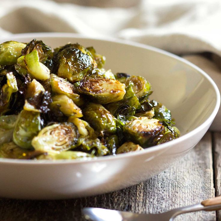 These beautifully caramelized brussels sprouts get lots of flavor after roasting with a toss in balsamic vinegar and honey to have you eating them one after another!