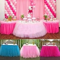 Wish | Tulle TUTU Table Skirt Tableware Wedding Party Xmas Baby Shower Birthday Decor