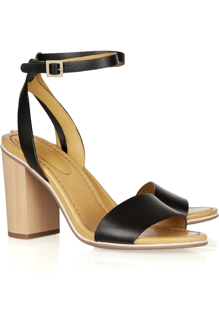 Chloe leather sandals, $295