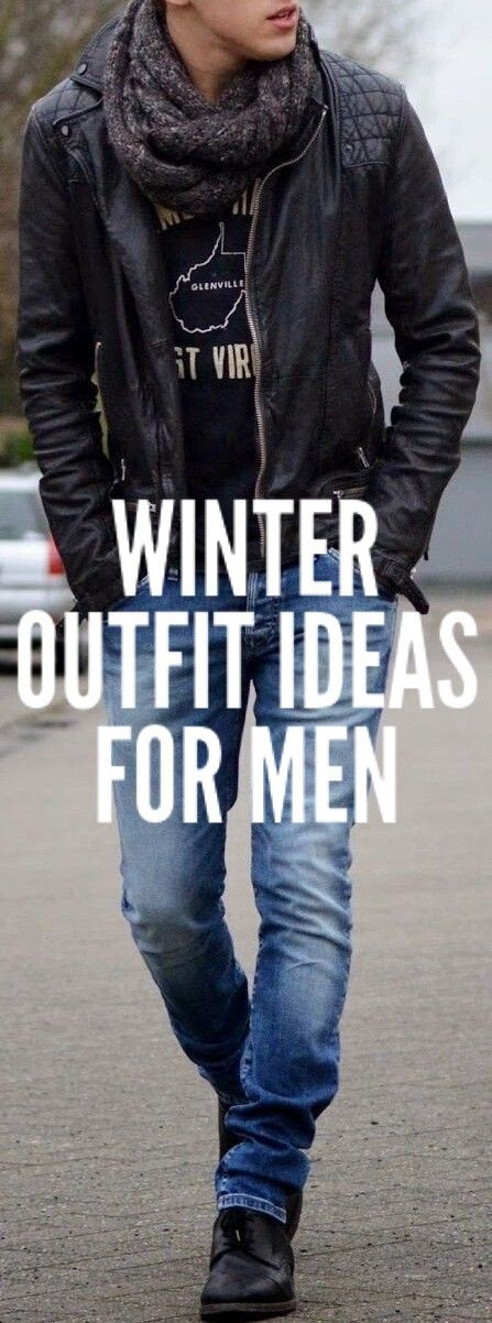 Coolest Winter Outfit Ideas For Men. #mensfashion