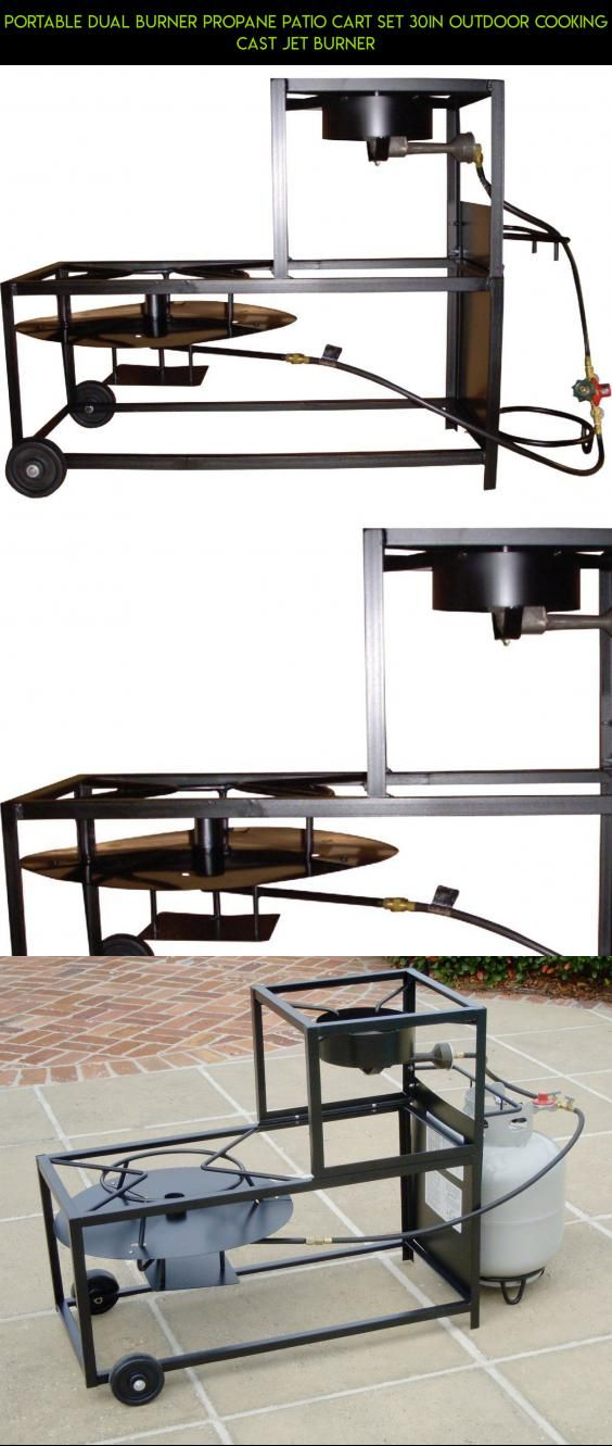 Portable Dual Burner Propane Patio Cart Set 30in Outdoor Cooking Cast Jet Burner #products #camera #tech #technology #drone #kit #shopping #racing #fpv #gadgets #outdoor #cart #cooking #plans #parts