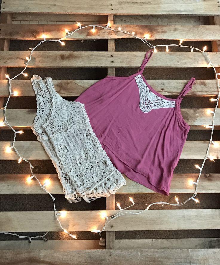 Blusas tejida y Crop Top rosa con tejido