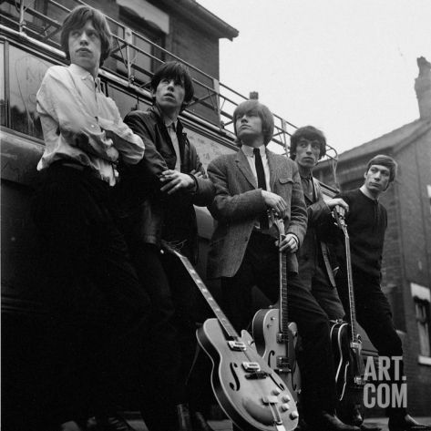 The Roling Stones: Group Pictured Holding Guitars Photographic Print at Art.co.uk