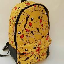 Resultado de imagen para mochilas con pikachu