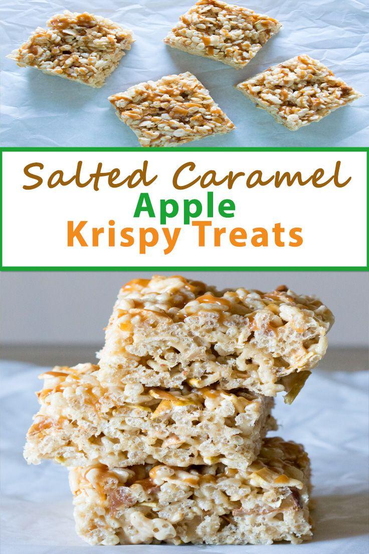 Salted Caramel Apple Krispy Treats