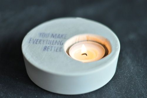 The Perfect Gift: Plaster Votives