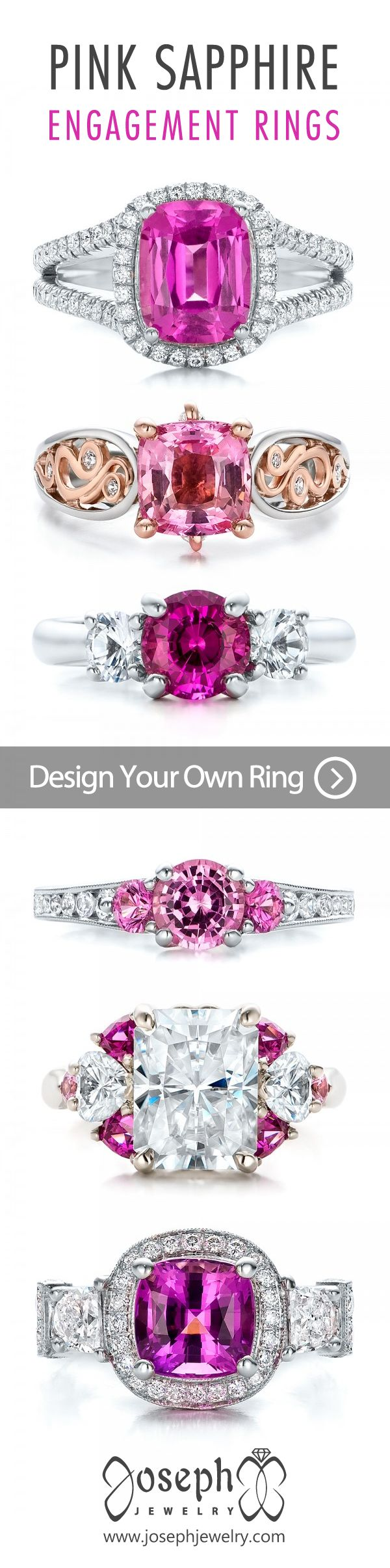 Design Your Own Pink Sapphire Engagement Ring! Sapphires Are One Of The  Best Choices For