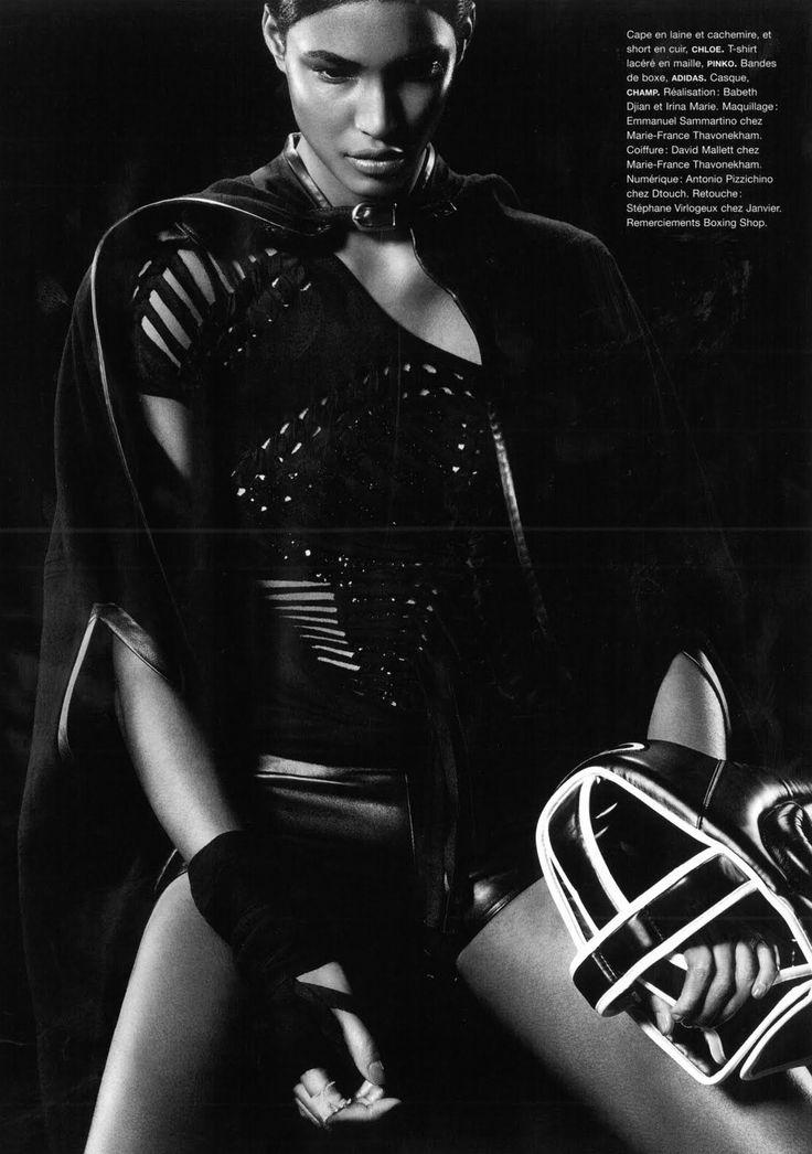"Numero #112, April 2010 ""Championnes"" Models: Sessilee Lopez Photographer: Jean Baptiste Mondino Stylists: Elizabeth Dijan & Irina Marie Hair: David Mallett Makeup: Emmanuel Sammartino"