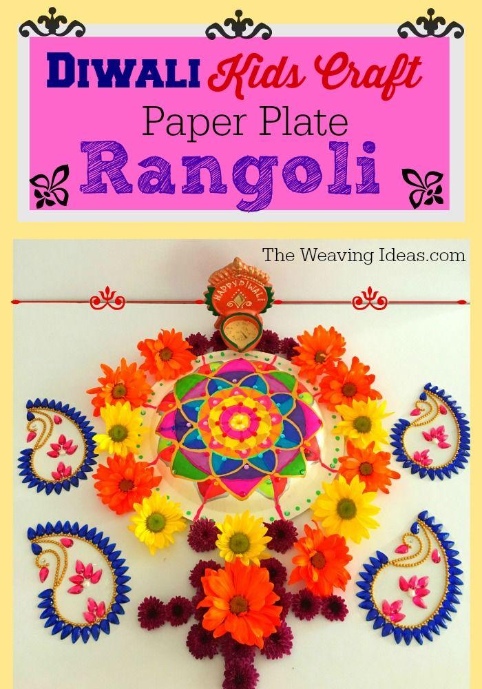 Paper Plate Rangoli #Diwali #Crafts #Kids