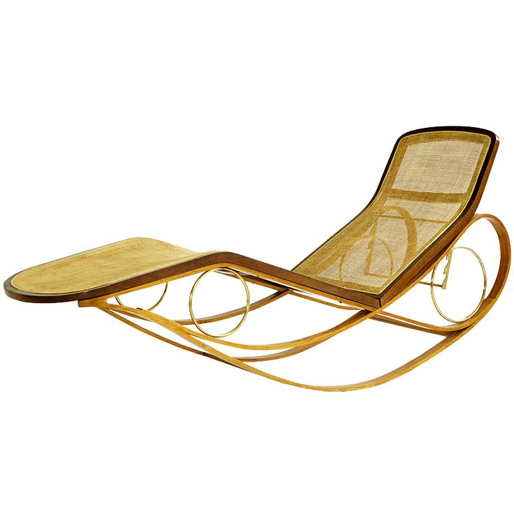 Edward wormley prototype rocking chaise from a unique for Chaise x rocker