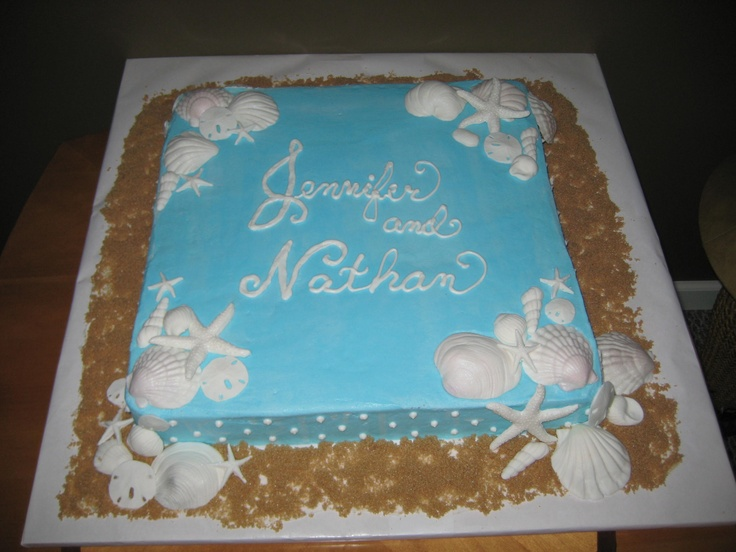 Sheet Cake Designs For Wedding Shower : Wedding shower cake - beach theme Wedding and shower ...