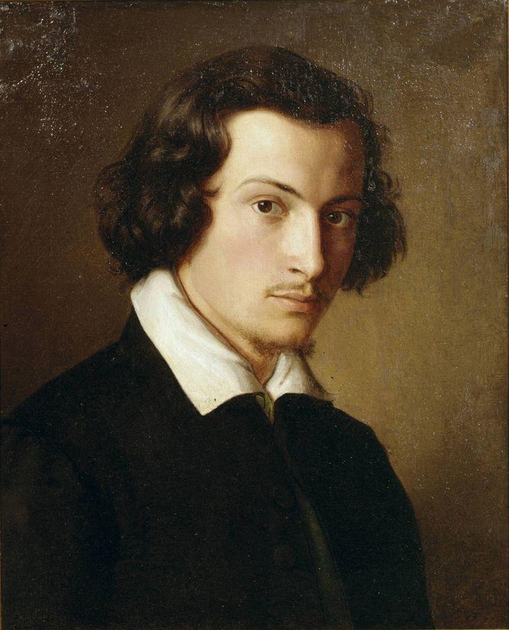 Филипп Вейт (немецкий, 1793-1877), Автопортрет, 1816 Холст, масло.  Landesmuseum Майнц.: