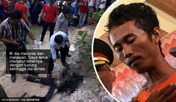 Video pengakuan dan gambar: Enggan bertanggungjawab lelaki bunuh dan bakar mayat teman wanita hamil 6 bulan   Video pengakuan dan gambar: Enggan bertanggungjawab lelaki bunuh dan bakar mayat teman wanita hamil 6 bulan  PEKAN BARU INDONESIA  Seorang wanita berusia 21 tahun yang hamil ditemui mati dan sebahagian tubuh badannya terbakar di pinggir hutan pada Rabu 16 Ogos lapor Tribun Pekan Baru.  Kurang dari 24 jam selepas mayat ditemui Khamis 17 Ogos polis telah menahan seorang lelaki yang…