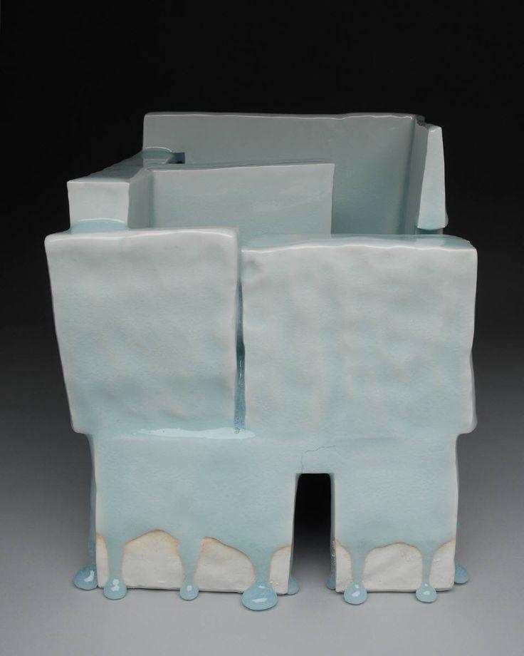 Masamichi Yoshikawa Porcelain with dripping blue celadon