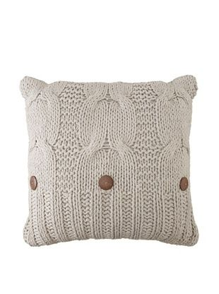 Amity Cable Knit Pillow (Gray)