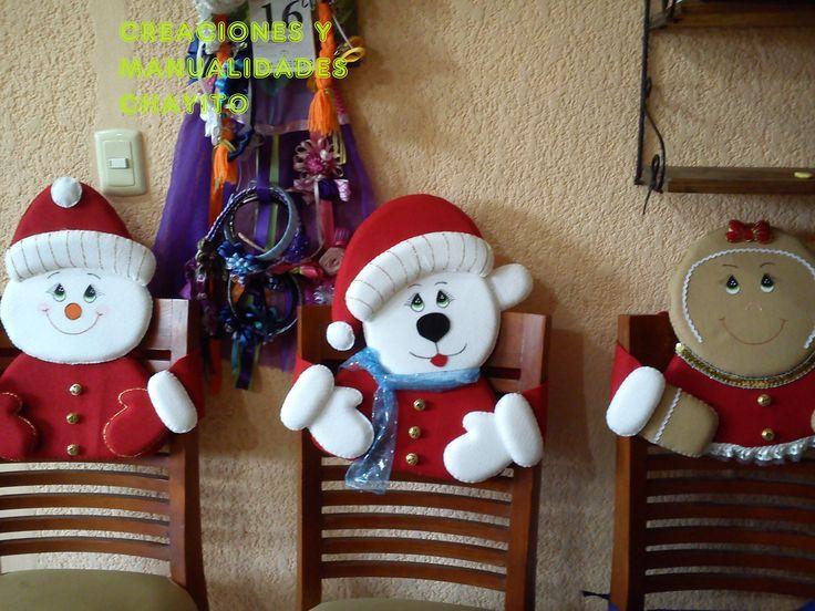 Adornos navide os para sillas de comedor buscar con - Adornos navidenos para sillas ...