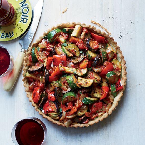 Food & Wine's ratatouille tart, filled with Provençal-style sautéed ...