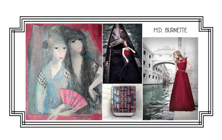 M.D. Burnette evening wear