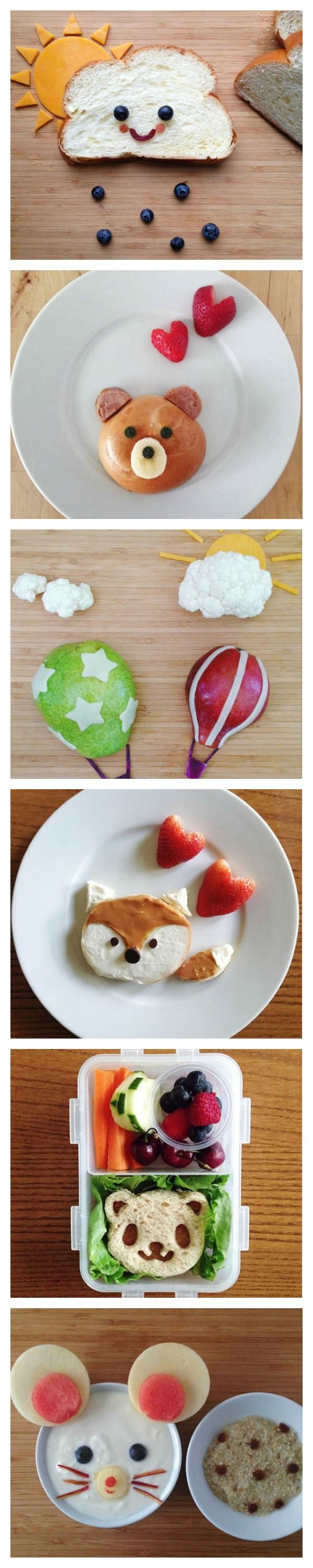 These fun lunchbox ideas are perfect for the kids. Kawaii food art