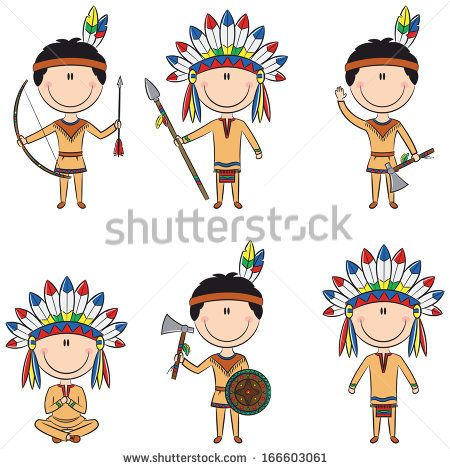 Native American People Stockillustraties & cartoons ...