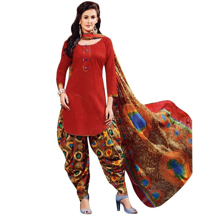 Readymade Printed Cotton Salwar Kameez with Chiffon Dupatta  #NewStuff #DressMaterial #FreeShipping #SalwarSuit #SalwarKameez #ShopNow #Designer #LowestPrice