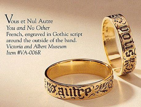 """This is a reproduction of the """"You and No Other"""" ring that appears in The Secret of Love."""