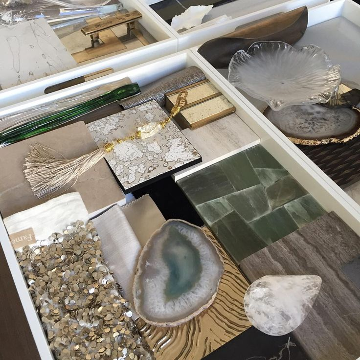 """""""Very exciting presentation later today. Adding the finishing touches to the mood boards this morning which will then be dismantled, packed in time for our…"""""""