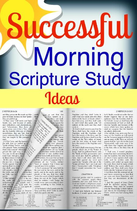 Family Scripture Study, Some really great and inspiring ideas!