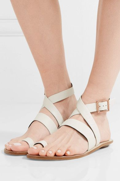 Tibi - Hallie Leather Sandals - Ivory - IT39.5
