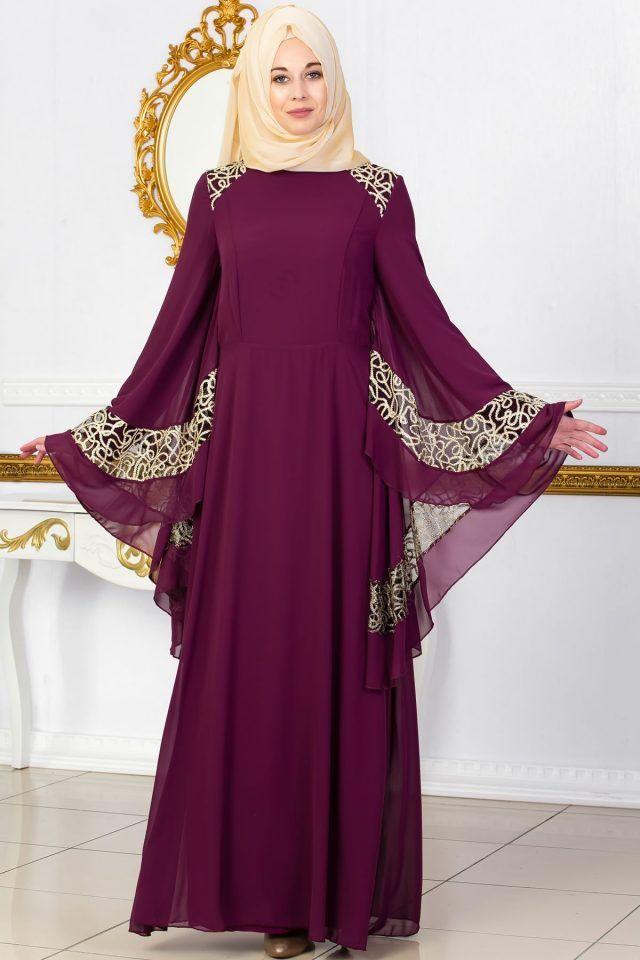 537bafcd231e5 En Guzel Sedanur.com Tesettur Abiye Elbise Modelleri-omuzlari-dantel -detayli-